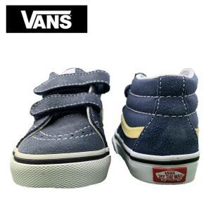 ワケあり-1590 VANS TODOLLER バンズ トドラー VN0A348JQ8D SK8 MID REISSUE V BLUE YELLOW スケートハイ ミッドリイシューV ブルー イエロー幼児用 靴|delicious-y