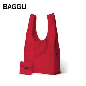 メール便 BAGGU バッグ STANDARD /スタンダード Red レッド エコバッグ/ナイロンバッグ ショッピングバッグ トートバッグ|deliciousy2
