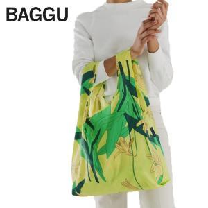 メール便 BAGGU バッグ STANDARD スタンダード YELLOW LILY 花柄 フラワー イエロー エコバッグ ナイロンバッグ ショッピングバッグ トートバッグ|deliciousy2