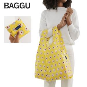 メール便 BAGGU バッグ STANDARD スタンダード Yellow Daisy イエローデイジー 花柄 黄 エコバッグ ナイロンバッグ ショッピングバッグ ギフト 景品 プレゼント|deliciousy2