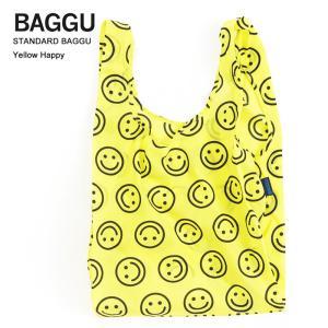 メール便 BAGGU バッグ STANDARD スタンダード YELLOW HAPPY イエローハッピー エコバッグ ナイロンバッグ ショッピングバッグ トートバッグ|deliciousy2