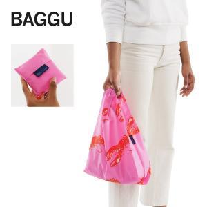 メール便 BABY BAGGU ベビー バッグ Pink Lobster ロブスター エビ ピンク レッド エコバッグ ナイロンバッグ ショッピングバッグ ギフト 景品 プレゼント|deliciousy2