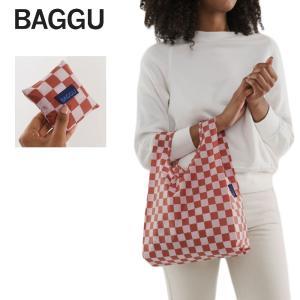 メール便  BABY BAGGU ベビー バッグ Rose Checkerboard ローズ チェッカーボード エコバッグ ナイロンバッグ ショッピングバッグ トートバッグ プレゼント|deliciousy2