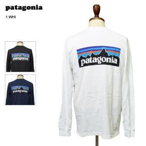 メール便 PATAGONIA SP'18 パタゴニア 39161 M's L/S P-6 Logo Responsibili-Tee メンズ 長袖 Tシャツ ロンT