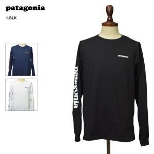 メール便 PATAGONIA パタゴニア 39042 Men's Long Sleeved Text Logo Responsibili Tee メンズ ロングスリーブ 長袖 Tシャツ ロンT