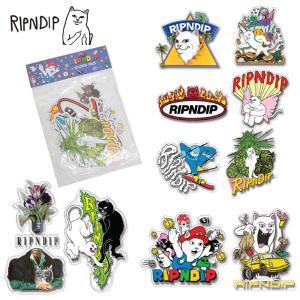 メール便 RIPN DIP リップンディップ Holiday 19 Sticker Pack RND4045 Multi シール ステッカー 猫 CAT 雑貨 かわいい ネコ キャット 猫 花 プレゼント 冬 deliciousy2