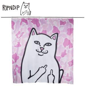 RIPN DIP リップンディップ Lord Nermal Shower Curtain RND2325PNK Pink Camo シャワーカーテン バス用品 ユニットバス ピンク 迷彩 猫 CAT 雑貨 かわいい ネコ deliciousy2