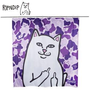 RIPN DIP リップンディップ Lord Nermal Shower Curtain RND2325PURP Purple Camo シャワーカーテン バス用品 お風呂 パープル 迷彩  CAT 雑貨 ネコ キャット deliciousy2