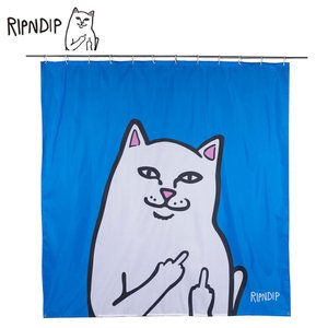 RIPN DIP リップンディップ Lord Nermal Shower Curtain RND2325 Blue シャワーカーテン バス用品 ユニットバス ブルー 猫 CAT 雑貨 ネコ キャット かわいい deliciousy2