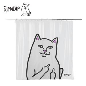 RIPN DIP リップンディップ RND2325 LORD NERMAL SHOWER CURTAIN  シャワーカーテンクリアー バス用品 ユニットバス ネコ 雑貨 ギフト プレゼント 猫 deliciousy2