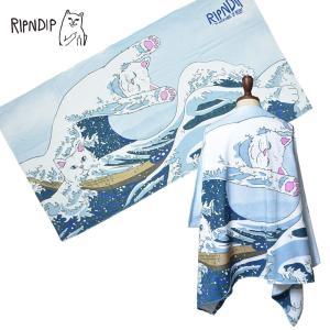 RIPN DIP リップンディップ RND2531 Great Wave Beach Towel ビーチ タオル ビーチブランケット ネコ 雑貨 プール 海 deliciousy2
