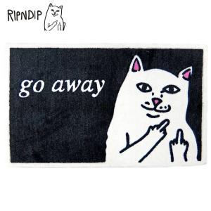 RIPNDIP リップンディップ RND0641 GO AWAY RUG メンズ レディス 雑貨 ラグマット カーペット 玄関マット 室内キャラクター猫 ネコ ねこ CAT deliciousy2