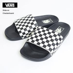 定番 VANS MENS バンズ メンズ Slide On VN0004KIIP9 Checkerboard white スライドオン サンダル チェッカーフラッグ|deliciousy2