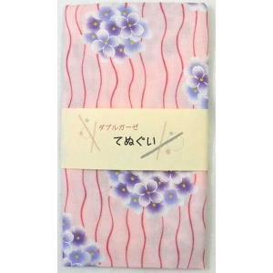 和柄ダブルガーゼ手ぬぐい あじさい柄/ピンク  綿100%、ダブルガーゼで快適です。 幅広い年代の方...