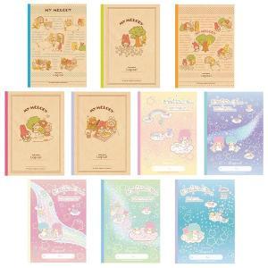 サンリオ B5ノート 10冊セット  かわいいサンリオキャラクターのノートです。  ※柄、色は予告な...