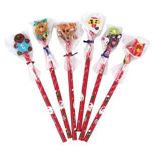 消ゴム付クリスマス鉛筆 25本セット 子供 景品