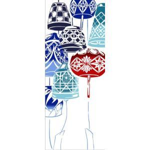 日本手ぬぐい 和柄 おしゃれ 切子風鈴 kenema 海 夏 フラ 注染 手拭い クリックポスト対応