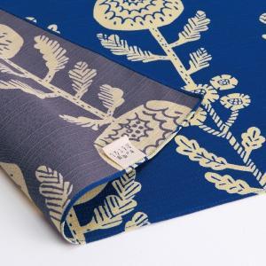 風呂敷 大判 おしゃれ 105x105cm 有職 京の両面おもてなし ふろしき 菊 群青色 三巾 クリックポスト対応