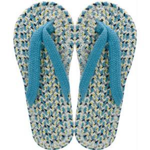 コットンサンダル メンズ LIGHT BLUE スリッパ 布 草履 ぞうり 室内履き 綿 クリックポ...