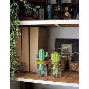 卓上ミニ加湿器 デコレ 潤いマスコット ガラス Cactus サボテン おしゃれ しっとり壺 ポータ...