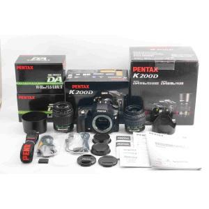 ◆ほぼ新品◆ペンタックス PENTAX K200D ダブルズームキット 僅か615ショット 付属品満...