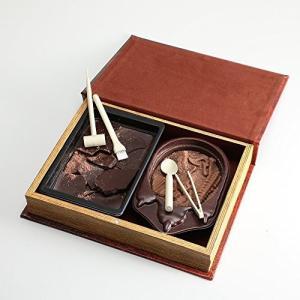 【恐竜発掘チョコレート】<オールドブック仕様>ジュラシックショコラ【ディグアップ&パズル】 ★最高級