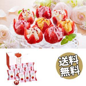 お中元 送料無料 2021 ストロベリーアイス 博多あまおう 花いちごの アイス 美味しい おすすめ スイーツ 御中元 3種 計 11個 ybk-A-DR|deliverydelight