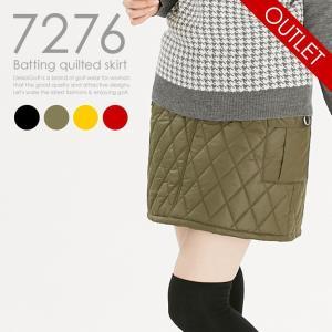 中綿キルティングスカート 防風 軽量 レディースゴルフウェア delsol-golf