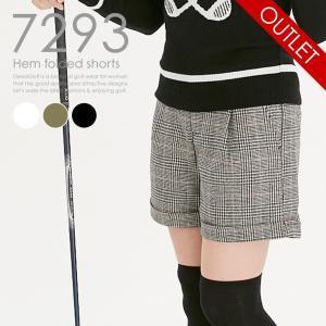 裾折り返しショートパンツ スポーティカジュアル レディースゴルフウェア delsol-golf