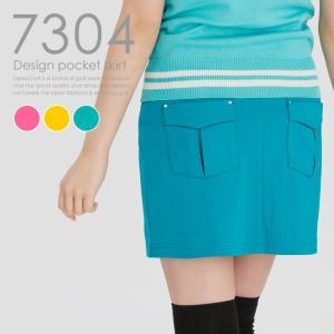 デザインポケットスカート Dカン&Uパンツ付き レディースゴルフウェア delsol-golf