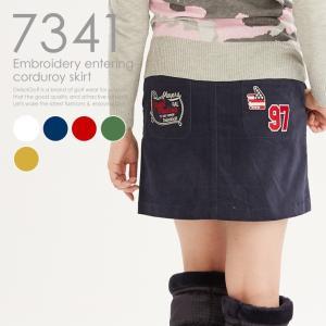 刺繍入コーデュロイスカート レディースゴルフウェア