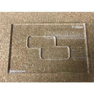 ベース用ピックアップ テンプレートガイド プレシジョンベース プレベ delta-groove