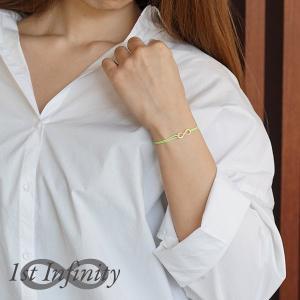 つけっぱなしok インフィニティ シンプル コード ブレスレット イニシャル ナンバー メンズ レディース 単品販売 1st Infinity|deluxe