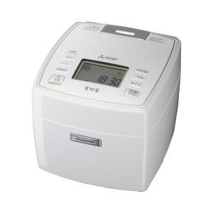 炊飯器 NJ-VV107-W 三菱電機 IH  5.5合炊き炭炊釜 備長炭 ピュアホワイト|den-mart