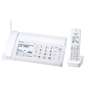 パナソニック 迷惑電話防止対策を強化したシンプルファックス 子機1台付き おたっくす KX-PD205DL-W|den-mart