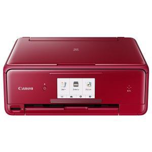 Canon インクジェット複合機  TS-8030-RD レッド PIXUS|den-mart