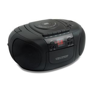 TEES CDラジオカセットプレーヤー TS-CD838-BK|den-mart
