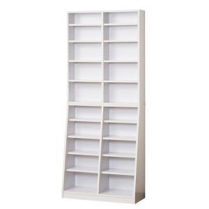 クロシオ SOHO書棚 W75 組立式 031132 ホワイト|den-mart