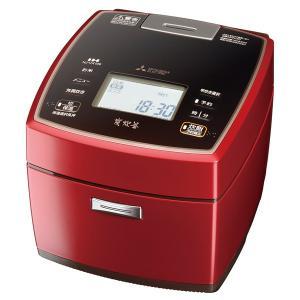 三菱電機 IHジャー炊飯器 5.5合炊き 備長炭 炭炊釜 NJ-VX109-R シャインレッド|den-mart