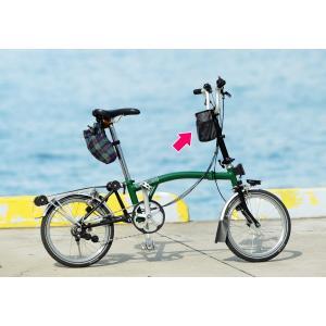 POTA BIKE(ポタバイク) ハンドルセンターポーチ ブロンプトン用ドリンクホルダー/小物入れ denden 02