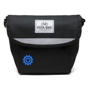 POTA BIKE(ポタバイク) セミハードフロントバッグ for ミニベロ ブラック生地/黒マーク|denden|02