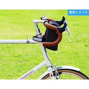 POTA BIKE(ポタバイク) セミハードフロントバッグ for ミニベロ ブラック生地/黒マーク|denden|12