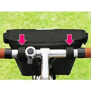 POTA BIKE(ポタバイク) セミハードフロントバッグ for ミニベロ ブラック生地/黒マーク|denden|13
