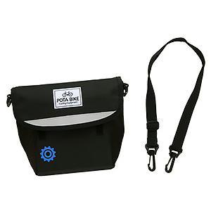 POTA BIKE(ポタバイク) セミハードフロントバッグ for ミニベロ ブラック生地/黒マーク|denden|14
