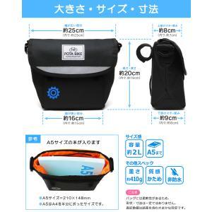 POTA BIKE(ポタバイク) セミハードフロントバッグ for ミニベロ ブラック生地/黒マーク|denden|08