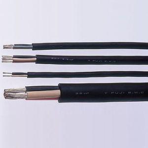富士電線 2種天然ゴム絶縁天然ゴムキャブタイヤケーブル 3.5㎟ 3心 100m巻 2CT3.5SQ×3C×100m