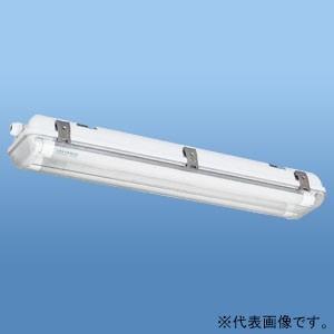 ナニワ 直管LEDランプ用器具 防水カバー型 20W型 2灯用 片側配線 全長655mm NEL-F...