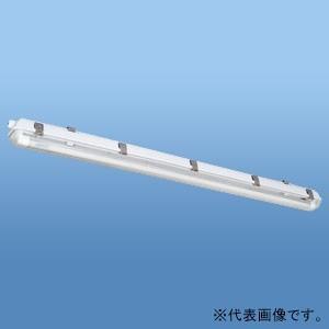ナニワ 直管LEDランプ用器具 防水カバー型 40W型 1灯用 両側配線 全長1265mm NEL-...