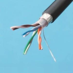 切売販売 伸興電線 屋外用 LAN用メタルケーブル カテゴリー5 0.5mm 4対 黒 10m単位切り売り SKLAN-OD5e0.5×4P
