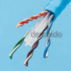 伸興電線 エコ電線 LAN用メタルケーブル カテゴリー6 0.5mm 4対 300m巻 薄青 EM-SKLAN-CAT6 0.5mm×4P×300m
